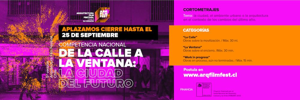 El Arquitectura Film Festival Chile cierra este viernes convocatoria a competencia nacional