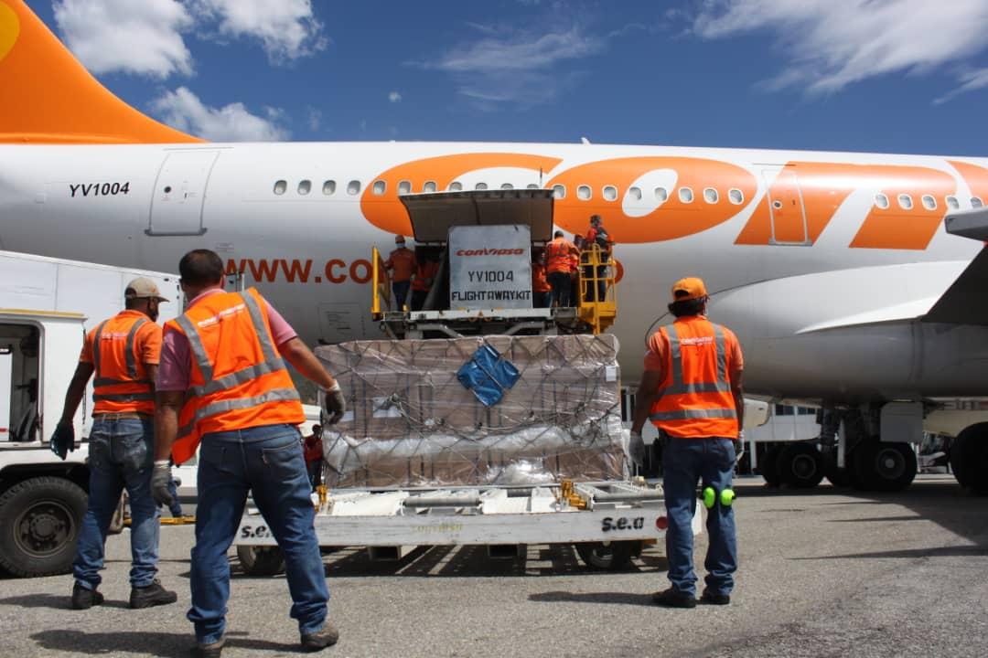 Arriban a Venezuela desde China 17 toneladas de insumos y equipos médicos