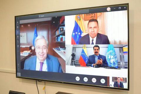 Maduro reitera a Guterres invitación para envío de misión de acompañamiento a elecciones
