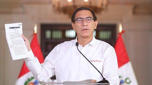 Perú: Vizcarra denuncia conspiración en su contra y reitera que no renunciará a la presidencia