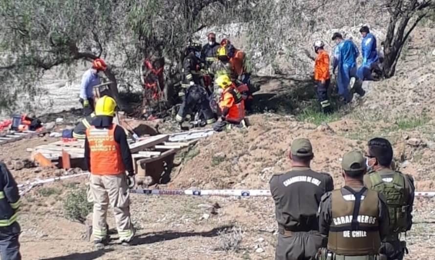 Hombre de 58 años muere tras derrumbe en mina ilegal en Coquimbo