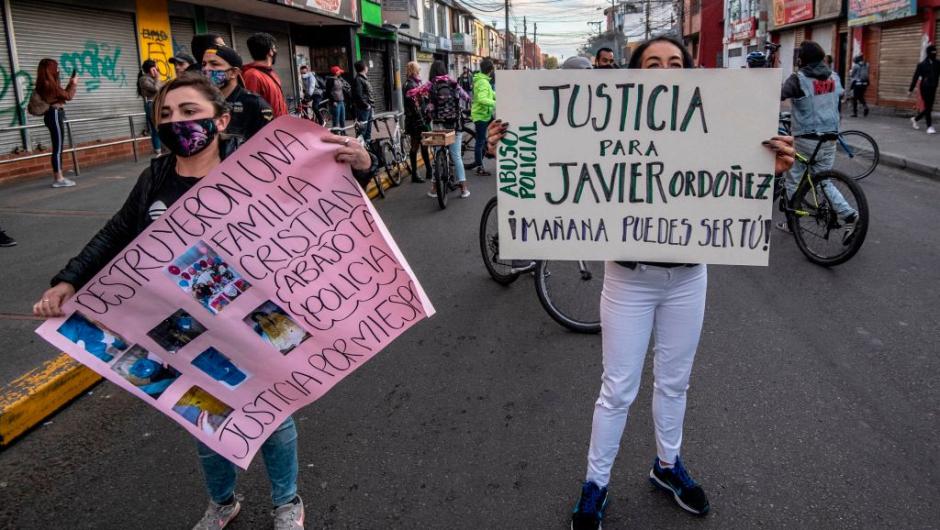 Colombia: ordenan prisión para dos policías implicados en homicidio de Javier Ordóñez