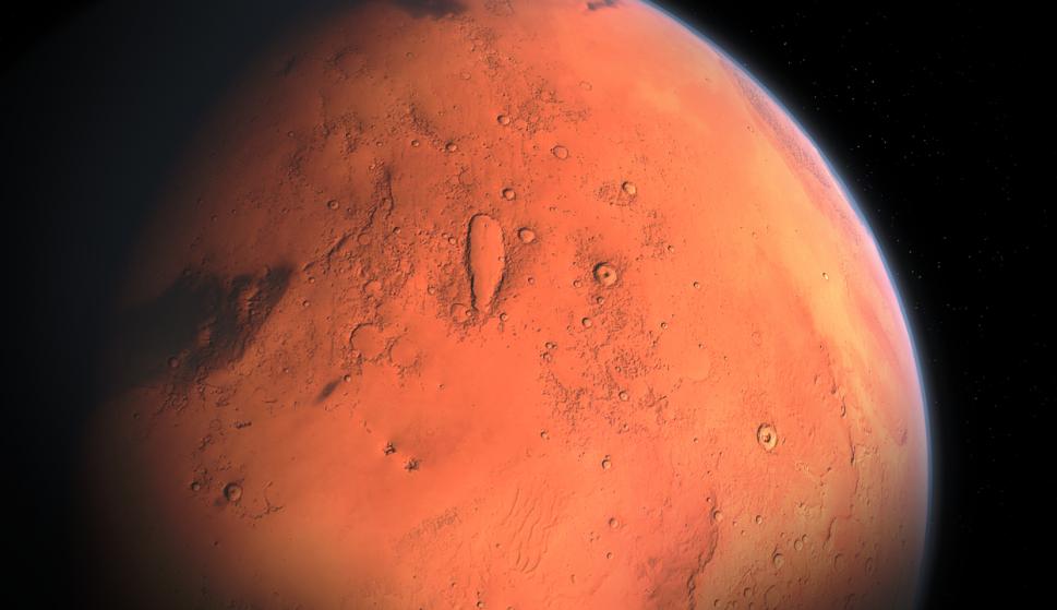 Confirman sistema de lagos de agua salada bajo los hielos del polo sur de Marte