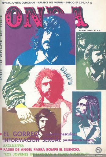 """50 años de la Unidad Popular: Revista juvenil """"Onda"""", de Editorial Quimantú, lanzada a la hoguera el 11 de septiembre de 1973"""