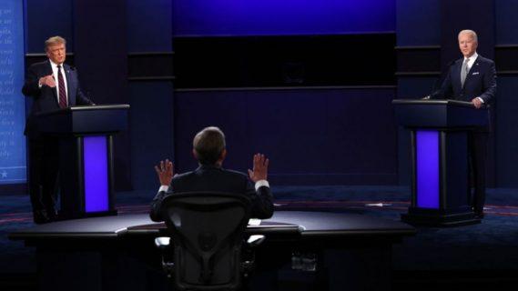 Interrupciones continuas y acusaciones mutuas: protagonistas del primer debate Trump-Biden