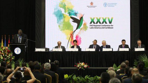 Este lunes inicia la 36 Conferencia Regional de la FAO