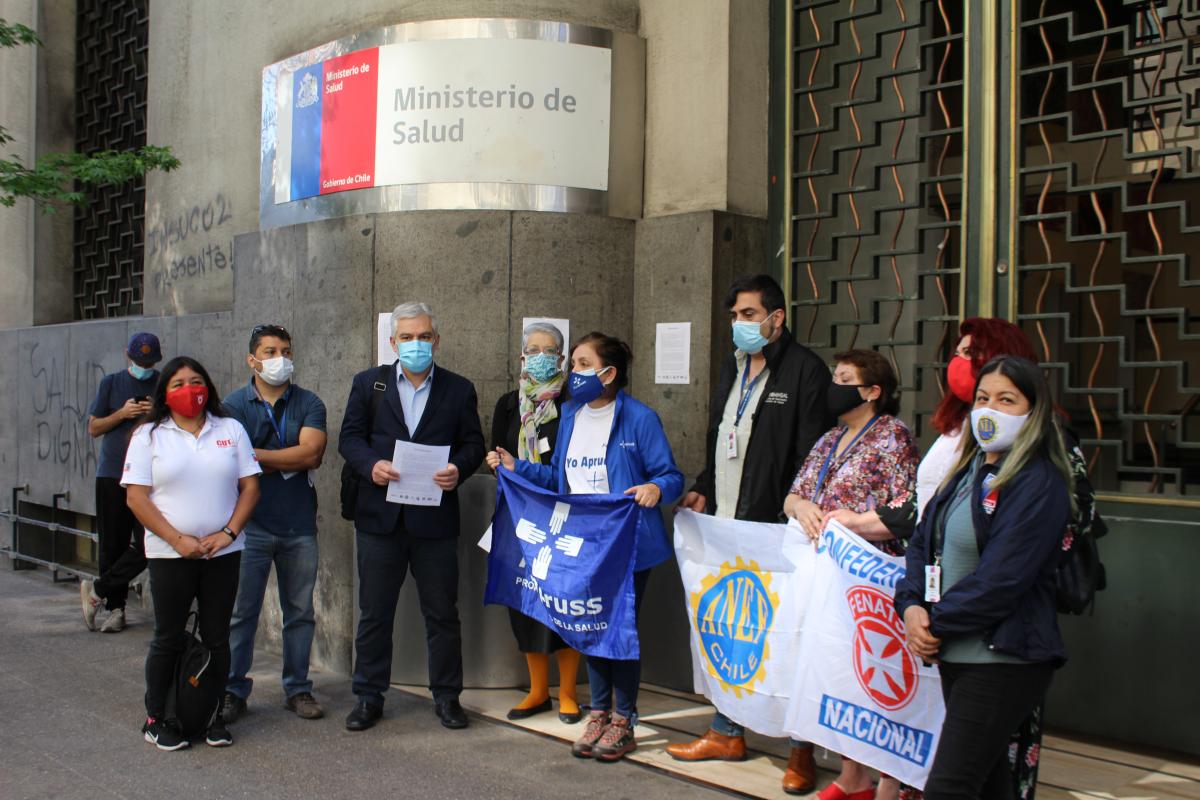 Organizaciones sindicales solidarizan con funcionarios del Minsal tras destape de irregularidades en administración de la pandemia