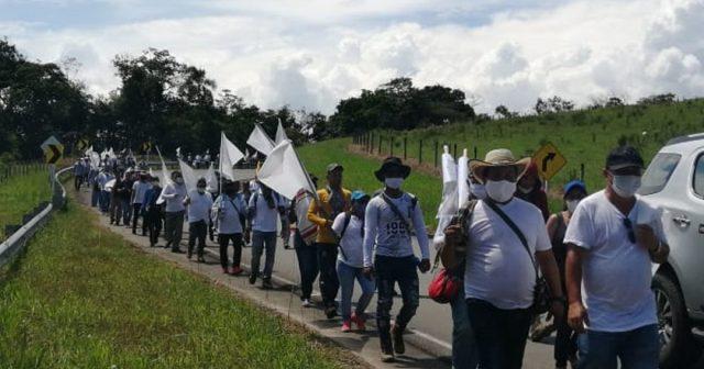 Excombatientes de FARC-EP marchan hacia Bogotá en reclamo al cumplimiento del acuerdo de paz