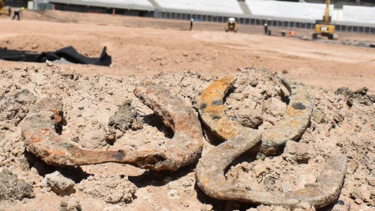 Remodelación del estadio de River Plate deja al descubierto hallazgo arqueológico
