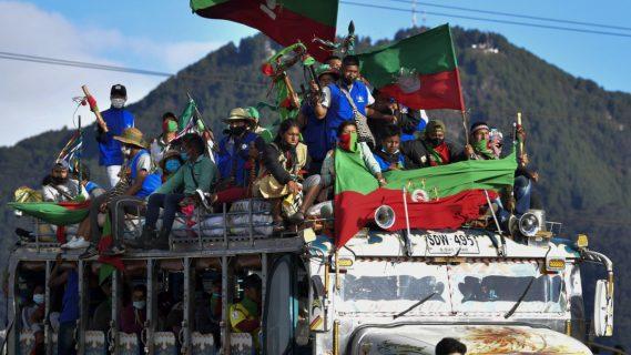 La minga indígena llega a Bogotá para exigir reunión con Duque