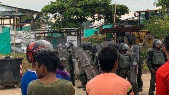 Desalojan de forma violenta a comunidad indígena Amazonía colombiana
