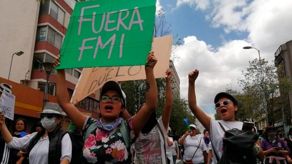 Ecuatorianos salieron a las calles masivamente en contra del FMI y Lenín Moreno