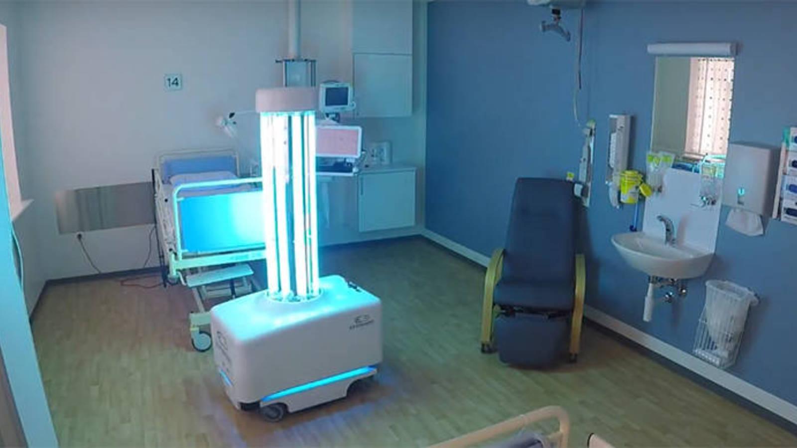 Un robot con radiación ultravioleta es la nueva arma europea contra el coronavirus