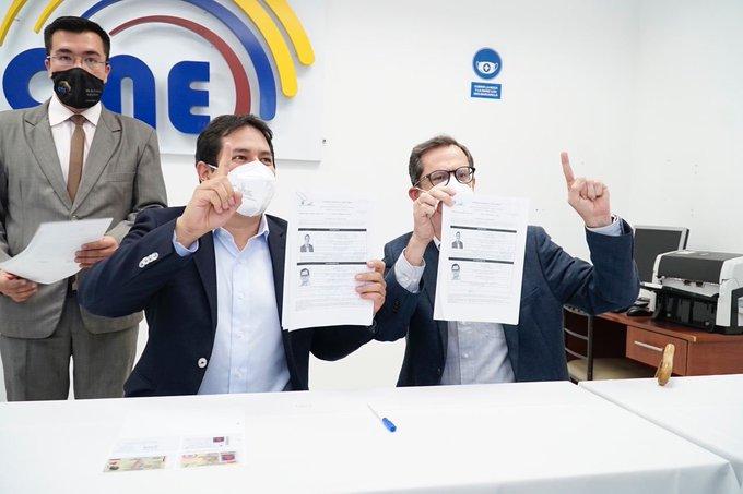 Ecuador: CNE valida inscripción del binomio Arauz- Rabascall para elecciones de 2021