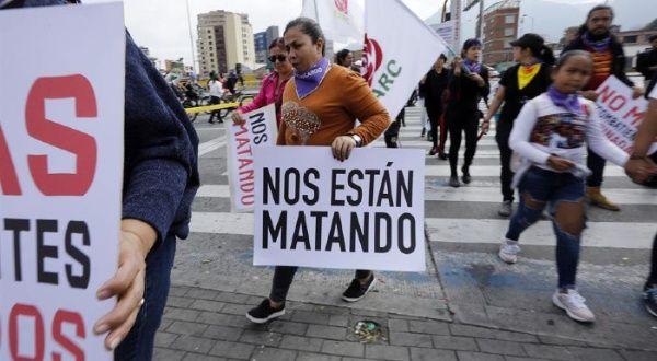 colombia excombatiente líder indígena