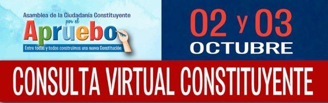 Asamblea de la Ciudadanía Constituyente por el Apruebo convoca a Consulta Nacional Constituyente este 2 y 3 de Octubre
