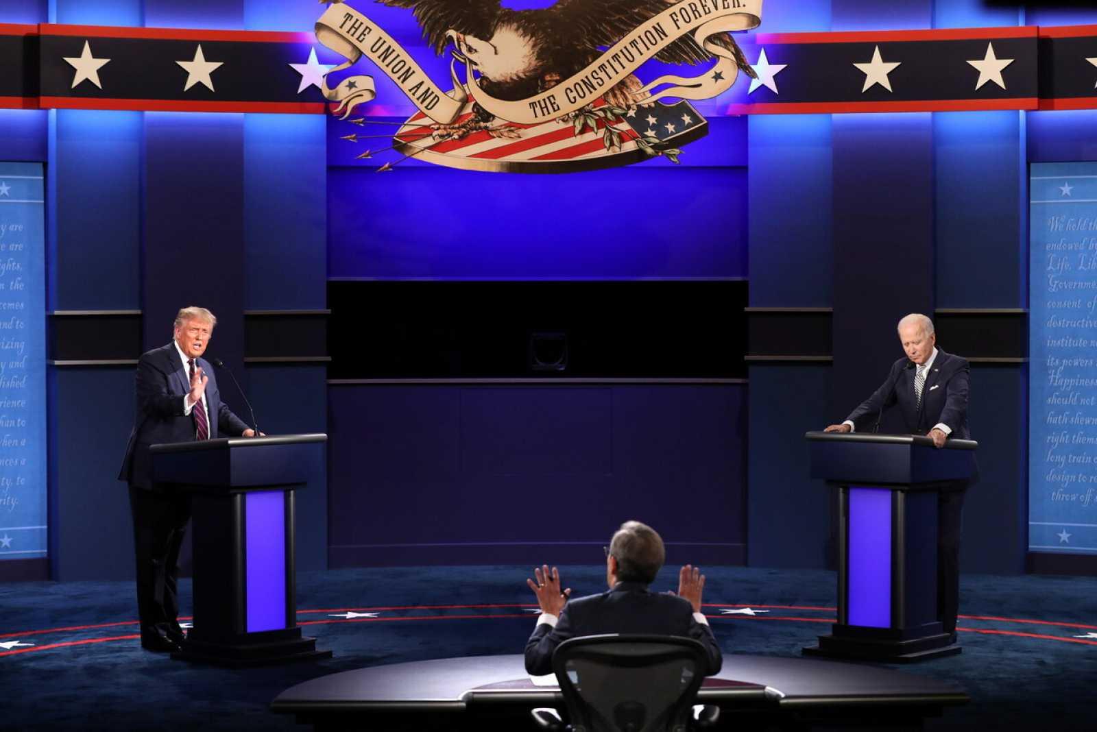 Cambiarán formato de debate Trump-Biden tras el caos del primer cara a cara