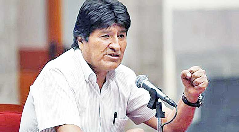 Evo Morales creará nuevos cuadros y enfrentará las difamaciones en su contra pero no se tiene previsto que forme parte del Gobierno