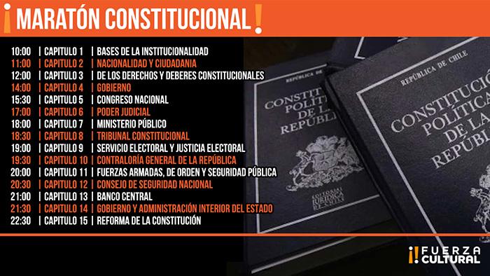"""Fuerza Cultural invita a una """"Maratón Constitucional"""" este sábado 24"""