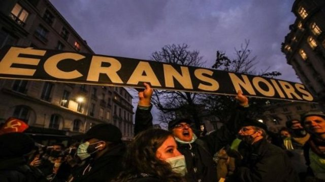 Registran protestas en Francia contra proyecto de seguridad