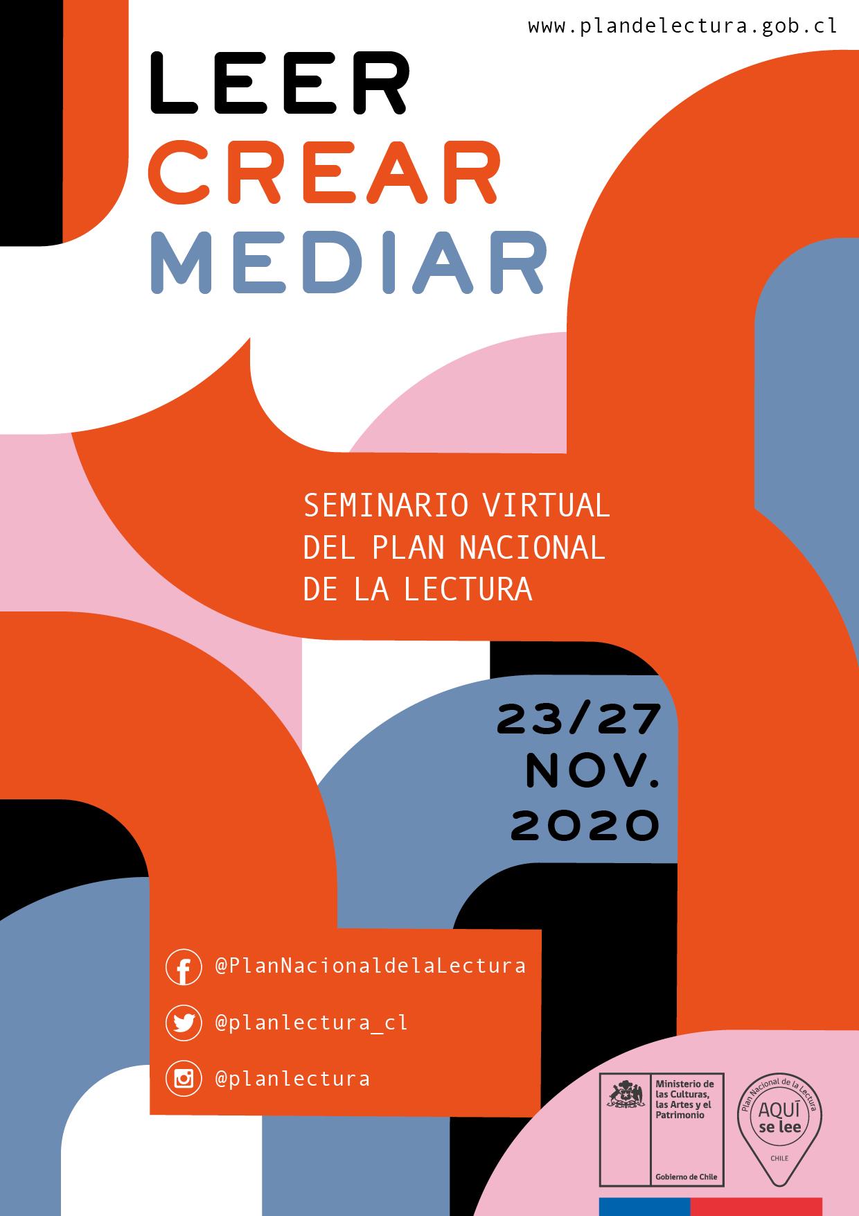 Seminario virtual del Plan Nacional de la Lectura reunirá más de 60 especialistas ligados al fomento lector