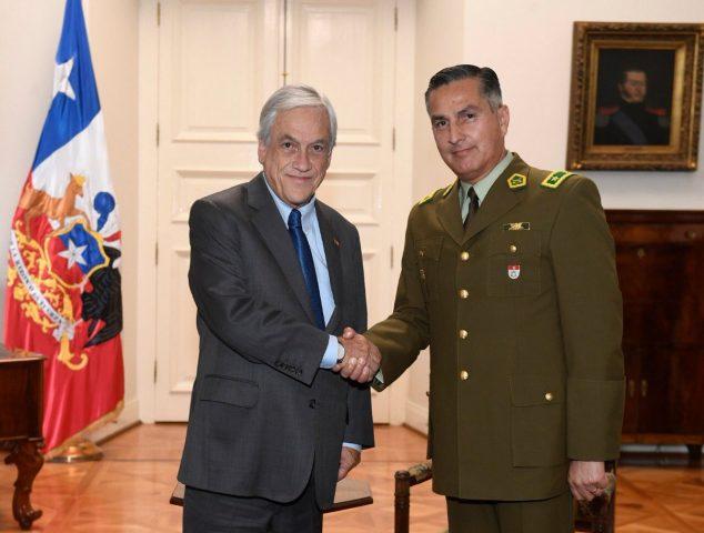 Piñera expresa admiración, aprecio y gratitud por director de Carabineros tras aceptar su renuncia