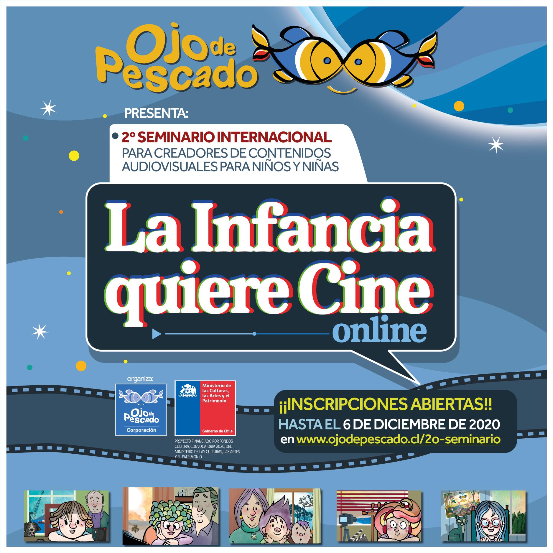 """Ojo de Pescado abrió convocatoria para 2º seminario internacional """"La Infancia Quiere Cine"""""""