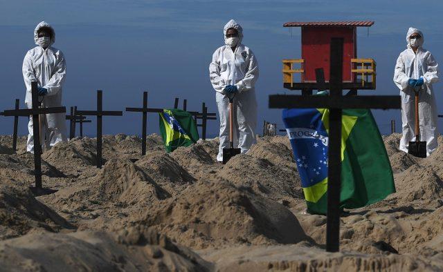 El drama de un gigante: Brasil superó las 172.000 muertes por Covid-19