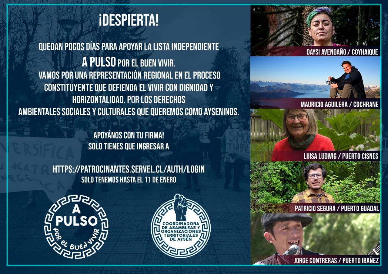 A Pulso, la opción independiente de Aysén que avanza hacia la Convención Constitucional