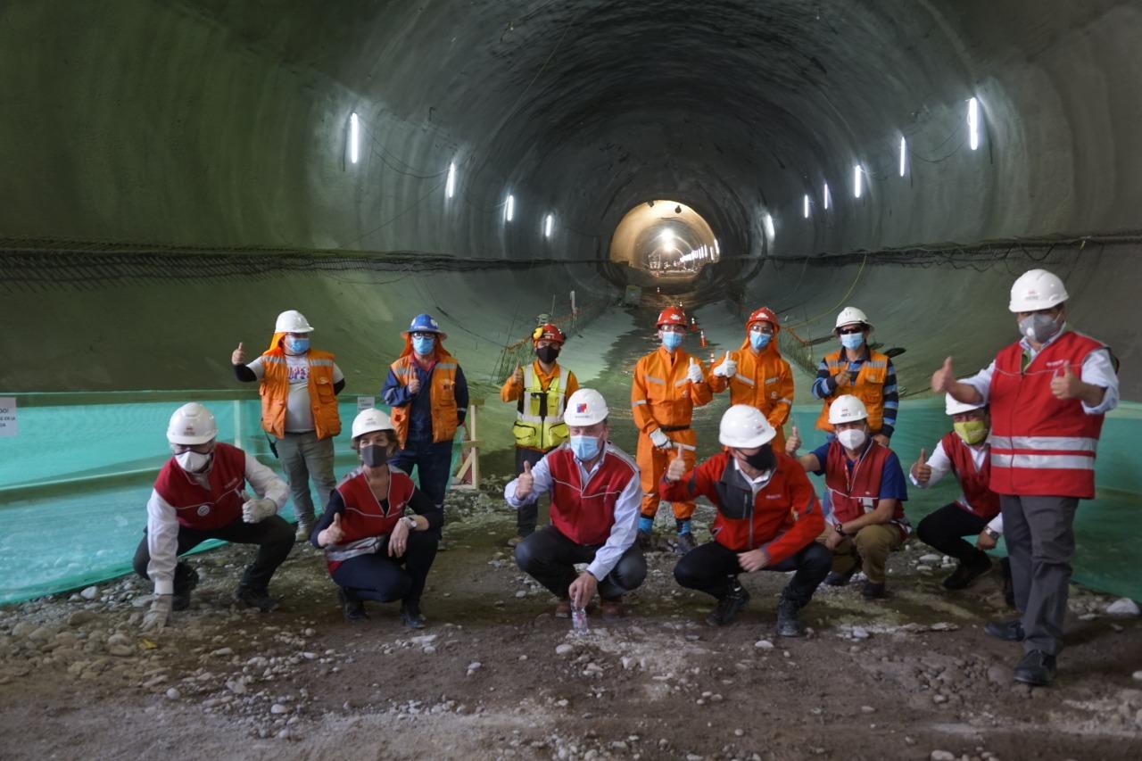 El Bosque: Avanzan obras de extensión de la Línea 2 del Metro de Santiago