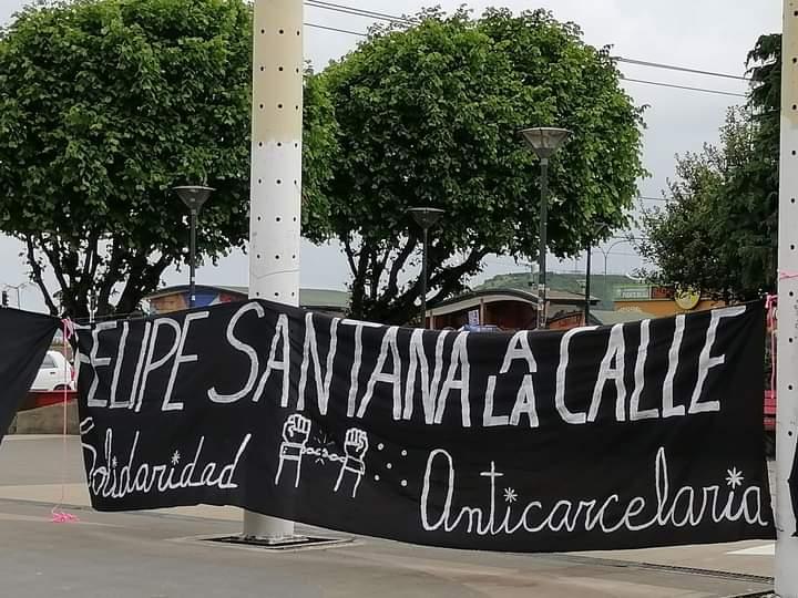 Presos Políticos en Chile: El caso de Felipe Santana, condenado a 7 años por la quema de una banca de la catedral de Puerto Montt