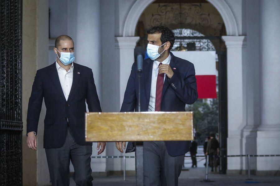 Ministros Delgado y Bellolio