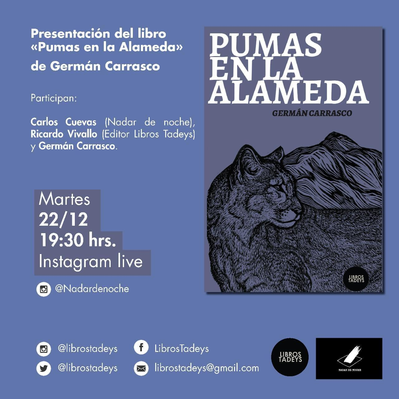 """""""Pumas en la Alameda"""": Invitan a la presentación del nuevo libro de Germán Carrasco"""