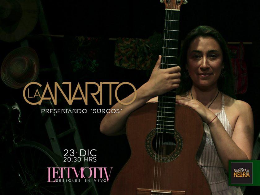 La Canarito nos presenta Surcos, su nueva era en la música en Sesiones Leitmotiv de Teatro Bandera Negra
