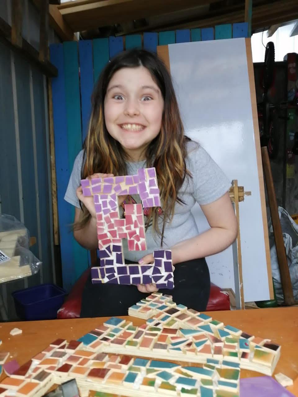 Talleres de Mosaico para niños en situación de vulnerabilidad
