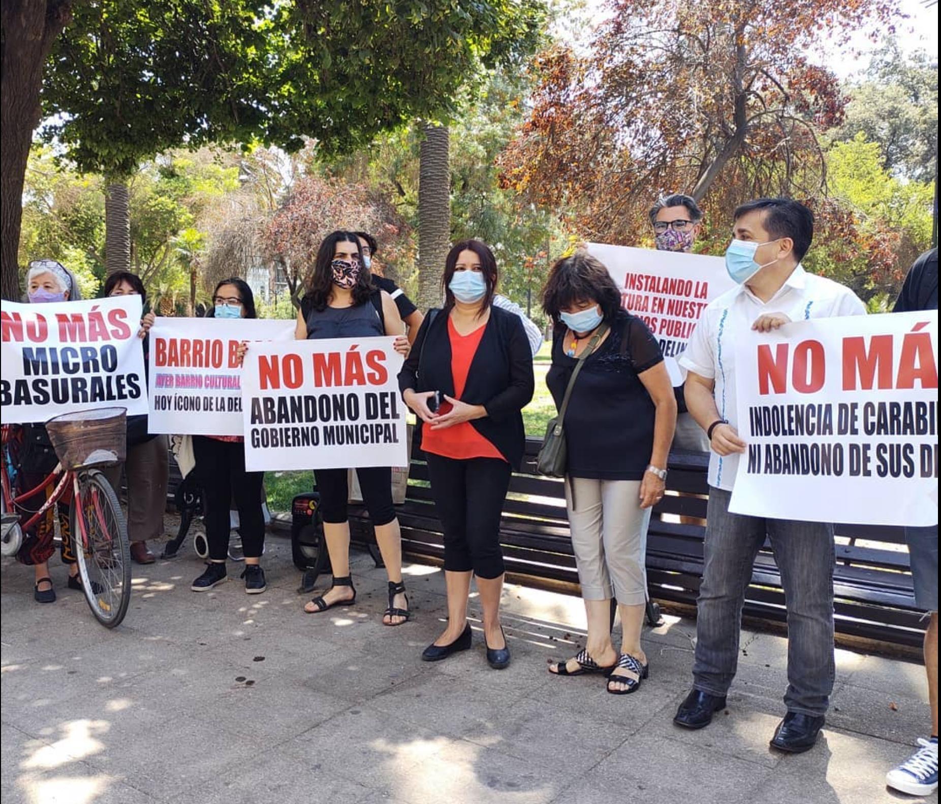 Vecinos acusan abandono del alcalde Alessandri para frenar la delincuencia en los barrios de Santiago