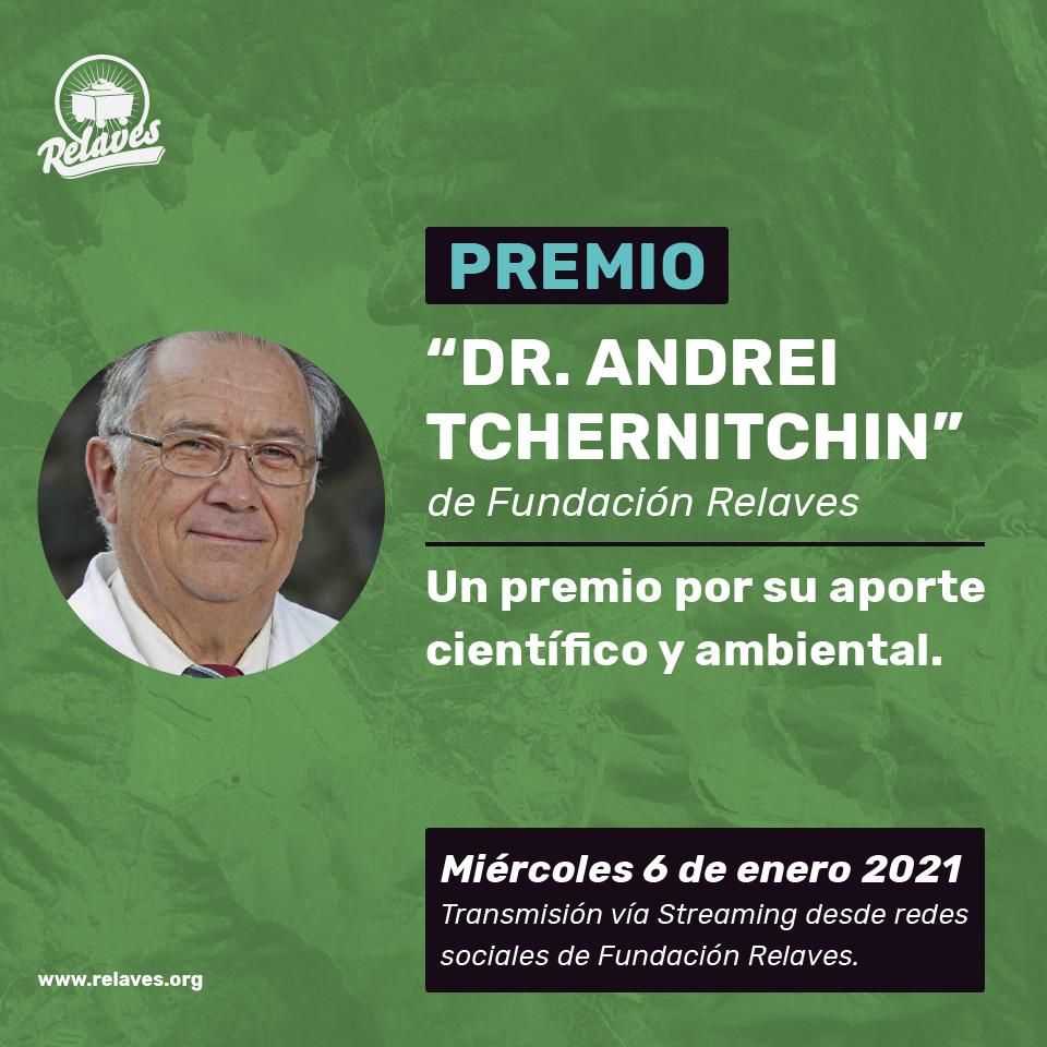 """Fundación Relaves entregará premio """"Dr. Andrei Tchernitchin"""""""
