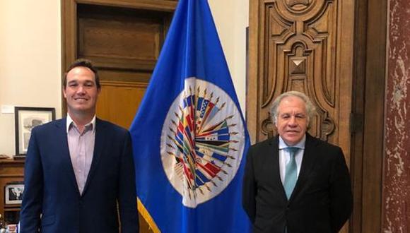 """George Forsyth el candidato peruano venezolano pro-trump se reunió con Almagro para """"asegurar elecciones libres"""""""