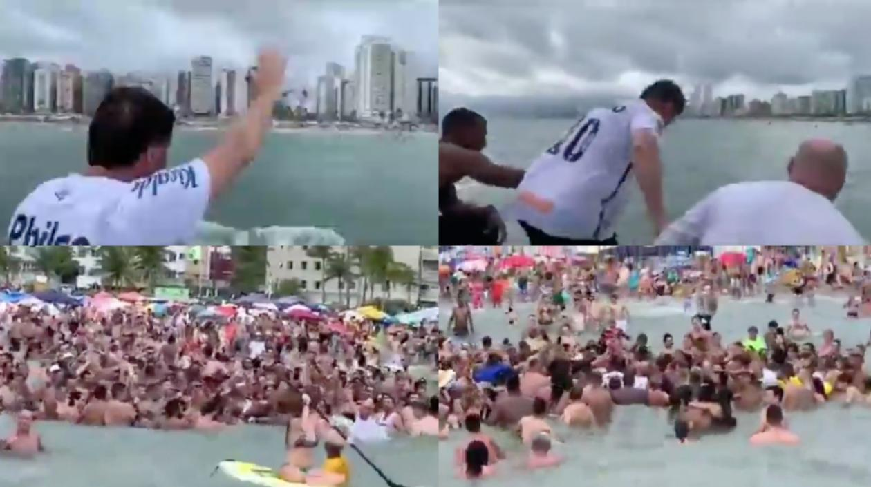 Primera polémica del año de Bolsonaro por provocar  aglomeración en una playa en medio de la pandemia