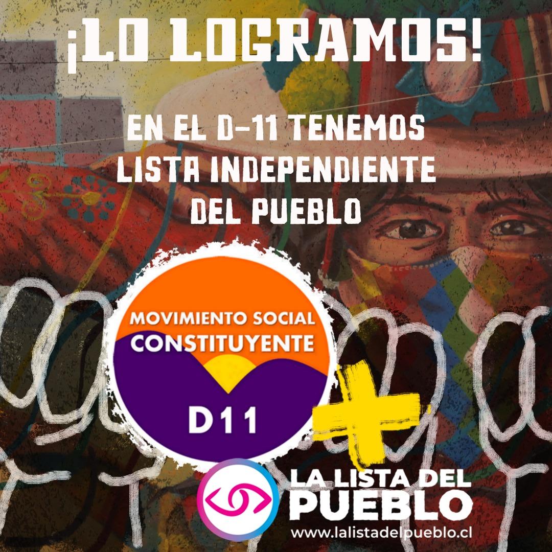 """Victoria popular: movimientos sociales del """"distrito del rechazo"""" juntaron las firmas para levantar lista independiente"""