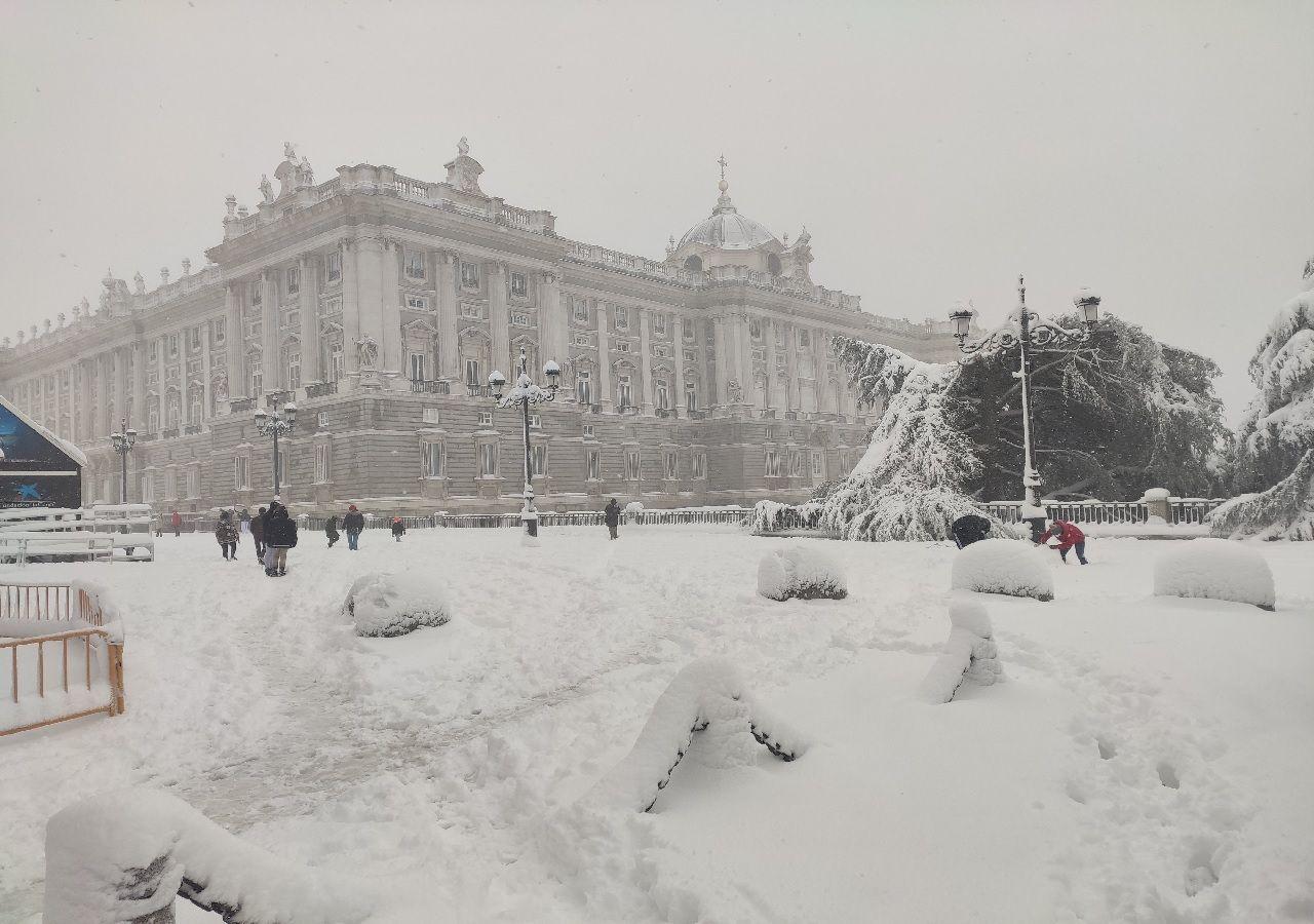 Evalúan declarar a Madrid zona catastrófica como consecuencia del temporal Filomena