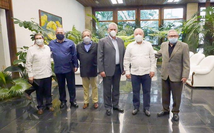 Raúl Castro y Miguel Díaz-Canel reciben en La Habana a expresidente brasileño Lula da Silva