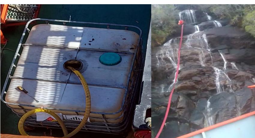 Tripulantes de naves salmoneras denunciaron falta de agua para beber y vertido de líquidos contaminantes al mar