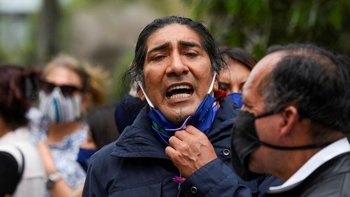 Movimiento indígena ecuatoriano se moviliza en apoyo a Yaku Pérez