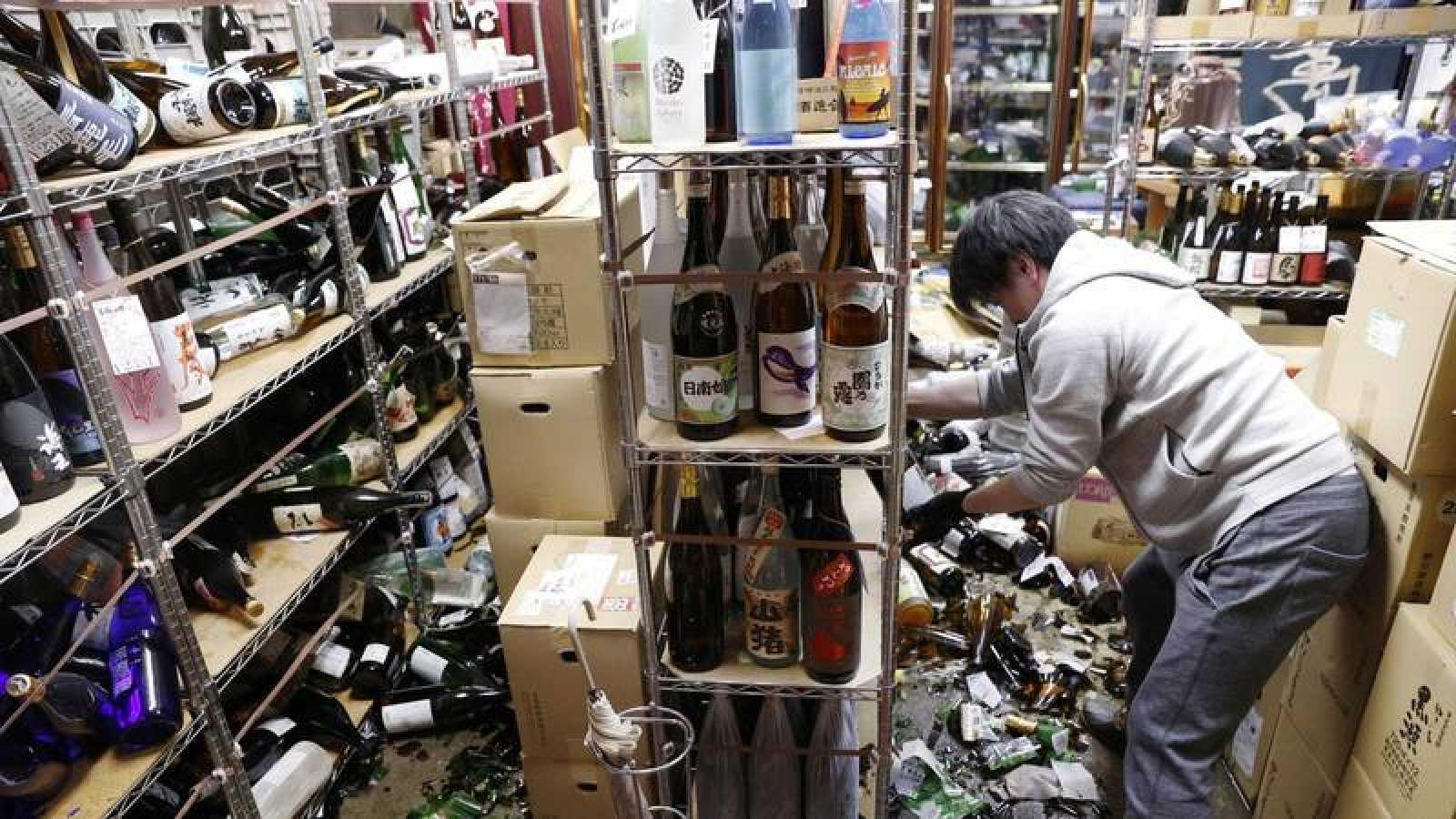 A 124 se eleva número de heridos por fuerte terremoto en Japón