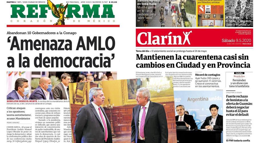 Como dos gotas de agua: Reforma y Clarín