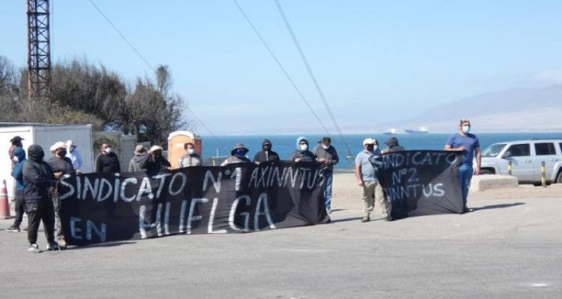 Sindicato de Axinntus que presta servicios a la Termoeléctrica Guacolda en Huasco lleva 20 días en huelga