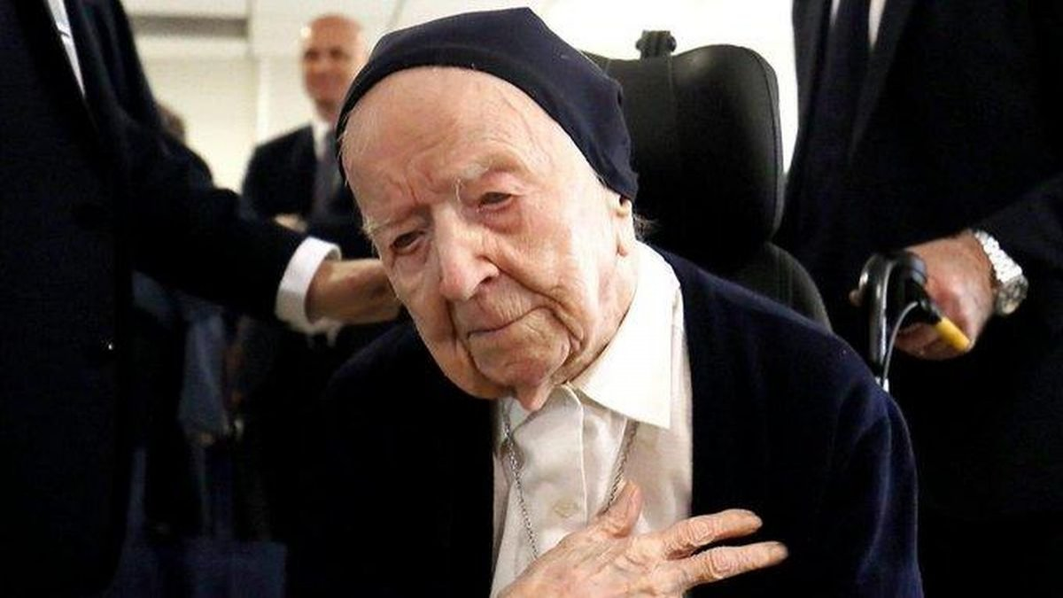Una monja francesa de 117 años superó el coronavirus sin síntomas evidentes