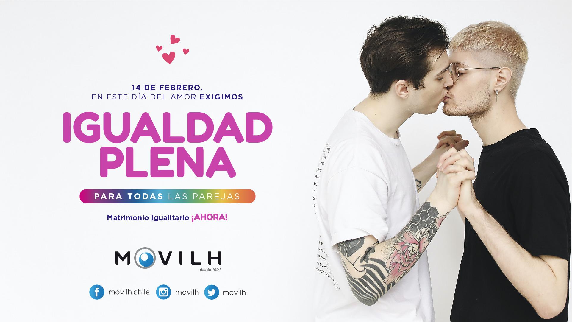 En el día del amor Movilh lanza primera campaña por el matrimonio igualitario que responde al rechazo de Piñera