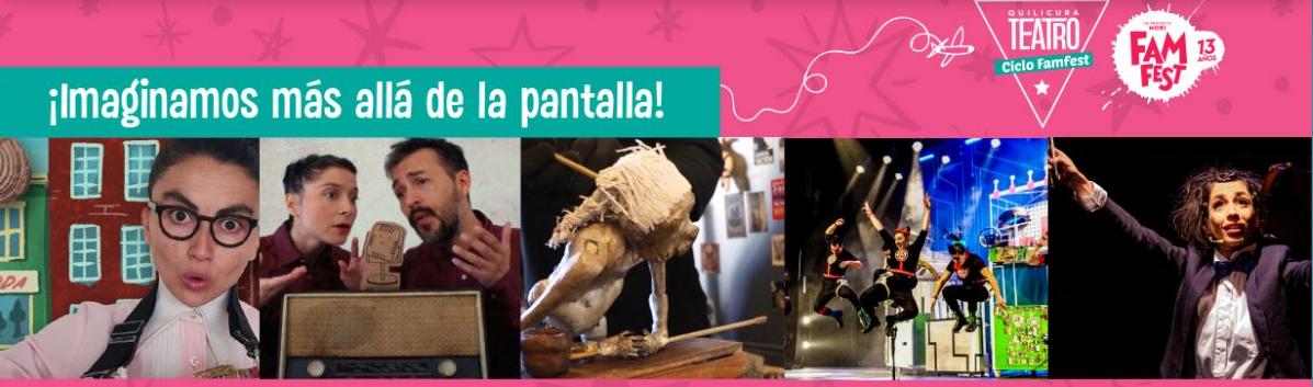 ¡A imaginar más allá de la pantalla!: Ciclo Famfest en Quilicura Teatro presenta cinco obras en formato digital para toda la familia
